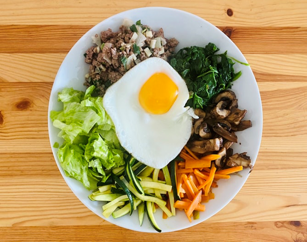 Vegetables and Egg