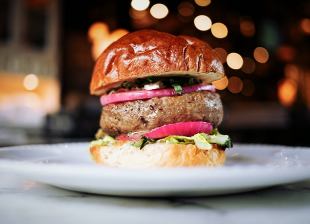 Beef burger with onion